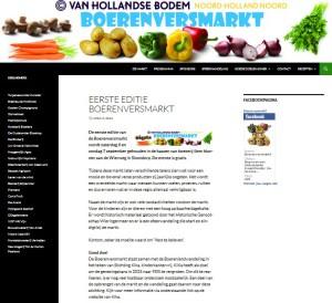 De website van de eerste Boerenversmarkt bleek een groot succes.